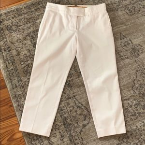 Tory Burch Cropped Pants Cream Texture Stripe 6